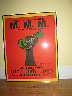 RARE 1995 Million Man March Washington DC Framed Poster The Empowerment Group
