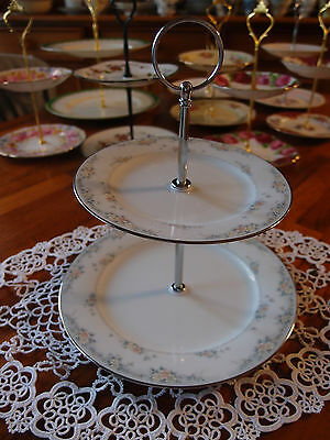2 Tier Cake  Biscuit Plate Stand high tea Noritake Fairfax
