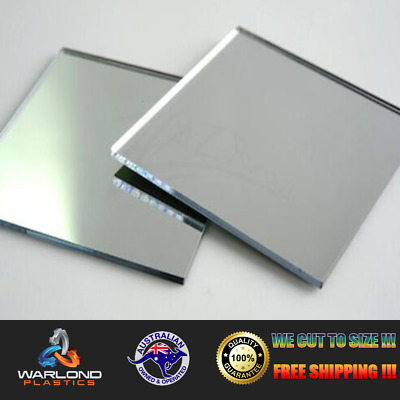 SILVER MIRROR ACRYLIC SHEET - FREE POSTAGE!!! - commonly known as perspex