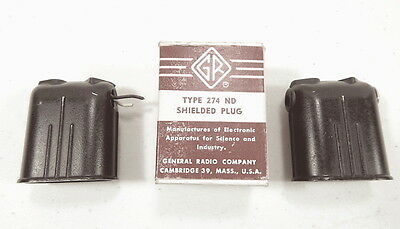 Three General Radio Type 274 ND Shielded Plugs - Two are NOS