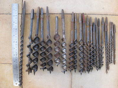 Vintage Auger Drill  Bits......... Pigeon, Footprint, Mathieson