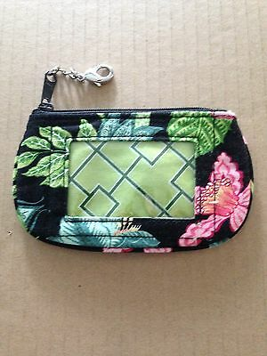 VERA BRADLEY Retired Tea Garden Zip ID wallet