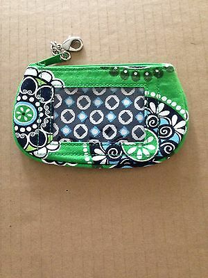 VERA BRADLEY Retired CUPCAKES GREENBLUE zip ID wallet