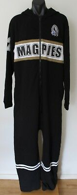 Collingwood Magpies AFL Football Club Pajamas Full In One Suit Adult XL BNWT
