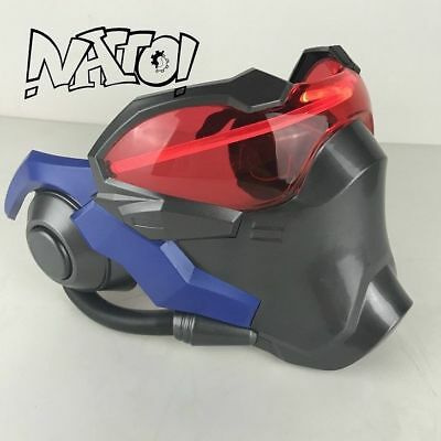 2017 Overwatch Soldier 76 Led Luminous Mask Cosplay Helmet Halloween Gift Party