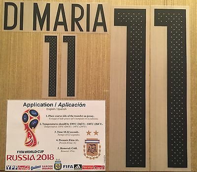 DI MARIA Argentina  11 Name Number Professional Size 2018 World Cup  Qualifiers d0026974b