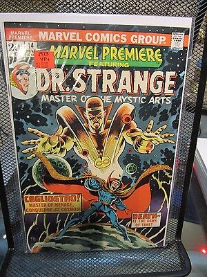 Marvel Premiere #14 featuring Dr Strange Marvel Comics 1973 Cagliostro Death
