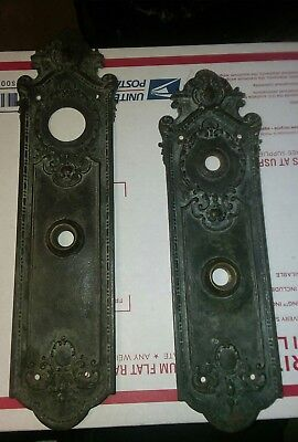 Antique  Entry Door Knob backplate by Sargent & Co.