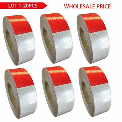 """2""""x150' DOT-C2 PREMIUM Reflective Red & White Conspicuity Tape Trailer LOT 1-20"""