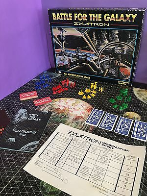 Vintage 1980s Zylatron : Battle For The Galaxy - Board Game
