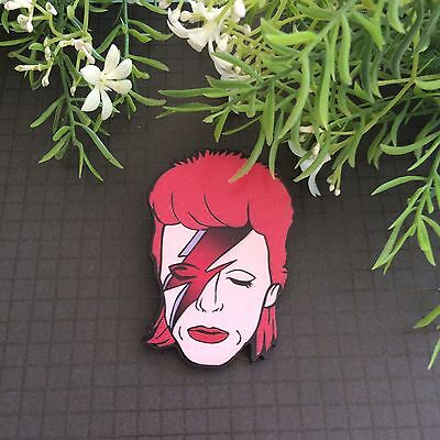 David Bowie Retro Brooch/ Pin/Lapel/ Backpack/Jewelry /Aladdin Sane