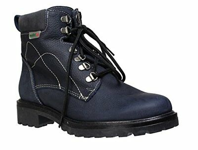 Martino New Penelope Womens Waterproof Pebbled Leather Ankle Boots (Navy) 7 B(M)