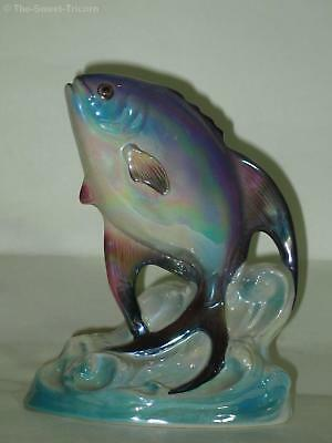 Wembley Ware Lustre Leaping Fish Figurine. Australian Pottery