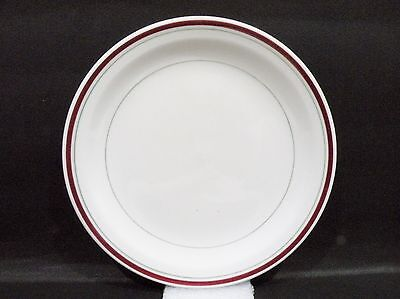 """Bristile Side Plate (7"""") maroon band & green lines pattern"""
