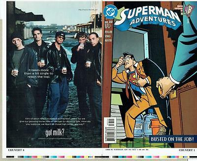 Superman Adventures #33 Proof Cover Production Art