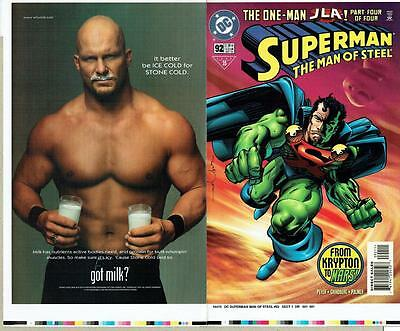 Superman The Man Of Steel #92 Proof Cover Production Art