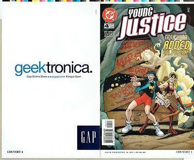 Young Justice #4 Proof Cover Production Art