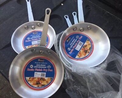 "Winco AFP-7S 7"" Diameter Majestic Fry Pan Lot Of 6"