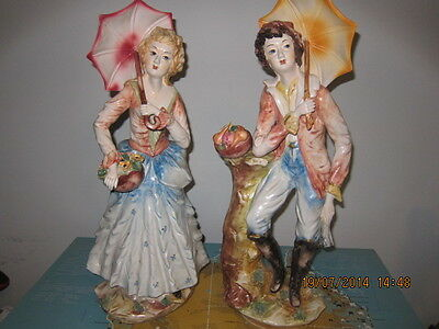 Capodimonte Matching Fruit Selling Figurines