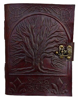 Shaurya Handmade Leather Diary Celtic Tree Of Life Embossed , Gift For Yourself