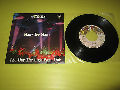 Genesis:many Too Many/the Day The Light Charisma 6079 467 Ex+/ex++ 1978 Italia
