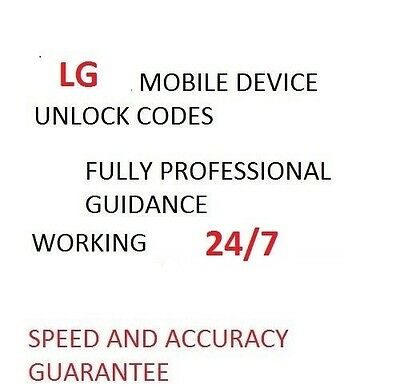 Unlock Codes For LG K10 K8 M200N K4 M160E K3 K100 Canada Any Networks Fast