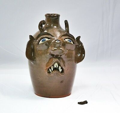 Joe Reinhardt Face Jug (SIGNED) circa OCT 1993