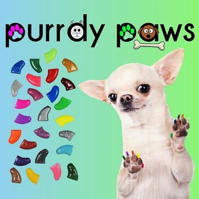 CLOSEOUT SALE * Soft Nail Caps For DOG Claws * Purrdy Paws * 2.50 Per Set