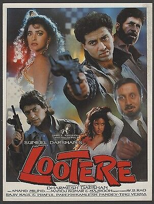 India Bollywood 1993 Lootere - pressbook booklet Juhi Chawla & Sunny Deol
