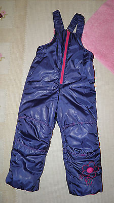 Snowsuit Girls Navy/Pink all in one age 3-4 years BNWT