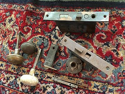 Lot of Antique vintage door knobs - miscellany Door Locks Etc