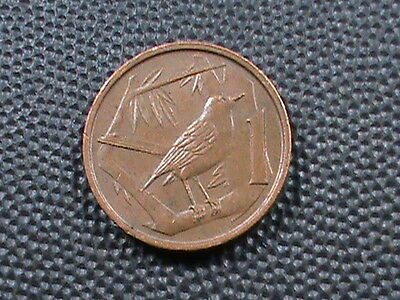 CAYMAN  ISLANDS   1  Cent   1992    BIRD  -  THRUSH