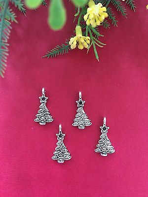 Antique Silver Zinc Alloy Christmas Tree Charms/pendants/ Jewelry Making/craft