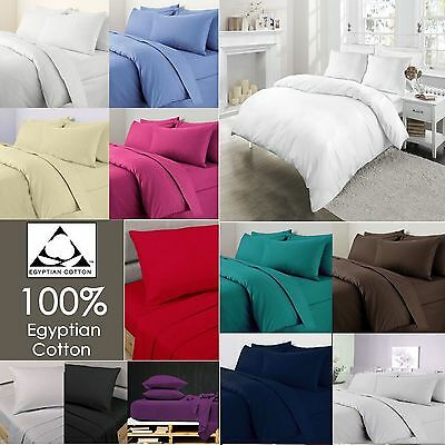 Luxury 100% Egyptian Cotton TC200 Flat Bed Sheets Size Single Double King S King