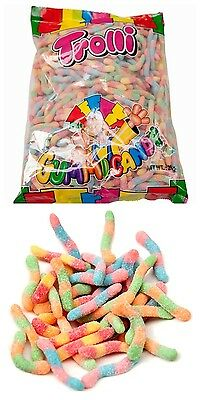 Trolli Brite Crawlers 2kg Gummy Sour Worms Lolly Party Favors Candy Buffet Sweet