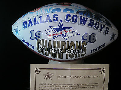 Nfl Super Bowl Xxx Dallas Cowboys Champions Limited Edition Official Football