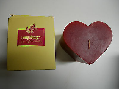 Longaberger Floral Bouquet Heart Pillar Candle NEW