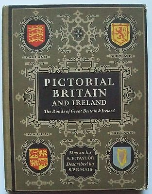 1933 Esso Pictorial Britain and Ireland Beautifully Detailed Atlas by AE Taylor