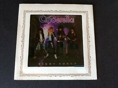 Cinderella ☆ Band Night Songs Vintage Carnival Glass Mirror ☆ Marked date 1986