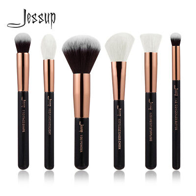 6Pcs Jessup Make-up Brushes Set Cosmetic Brush Tools Face Cheek Powder Stipping