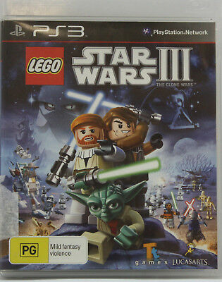 LEGO STAR WARS 3 THE CLONE WARS Sony Playstation 3 PS3 Game PAL + Booklet
