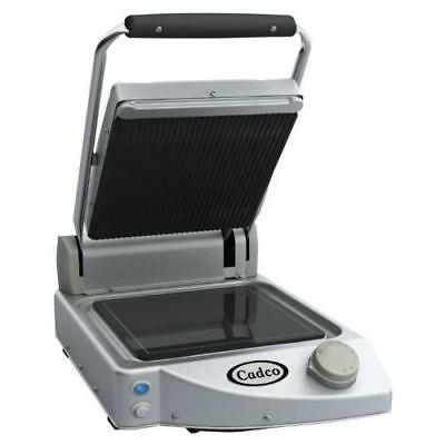Cadco - CPG-10 - Single Panini Grill with Ribbed Top Plate