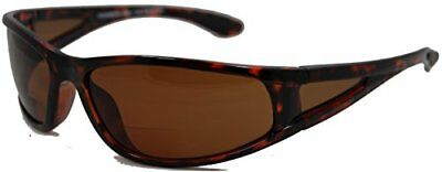 In Style Eyes Del Mar Polarized Wrap Nearly Invisible Line Bifocal Sunglass Read