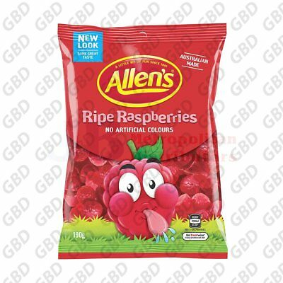 ALLENS RASPBERRIES BAG 190G (x12)