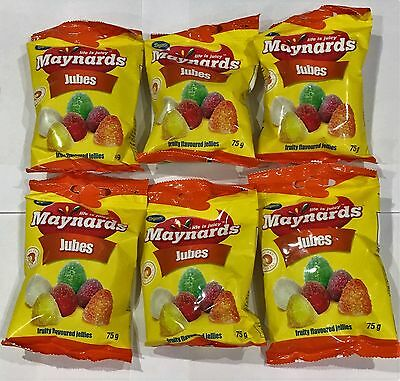 911429 6 x 75g BAG OF BEACON MAYNARDS JUBES FRUIT FLAVOURED JELLIES SOUTH AFRICA