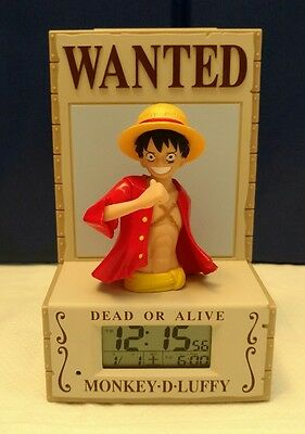 ONE PIECE Monkey D. Luffy 3D Talking Alarm Clock (Read)