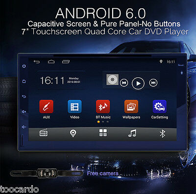 """In Dash 7"""" Quad Core Android 6.0 Car Stereo GPS Radio Wifi 3G Mirror-link+Camera"""
