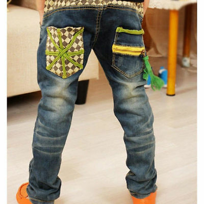Boy Jeans Age 2-7 Years Children's Clothing Fashion Autumn Single Pants 4834