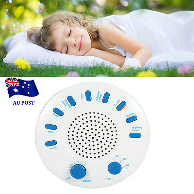 Sound SPA Relaxation Machine White Noise Nature Peace Therapy Sleep 9 Musics EA