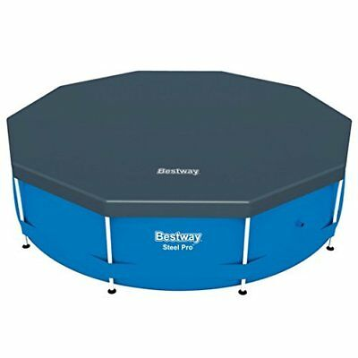 Bestway Steel Frame Swimming Pool Cover insulates and Protect Water  - 10 ft
